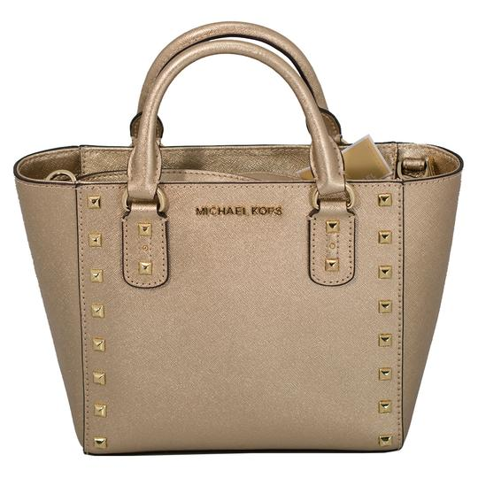 Michael Kors 191262029035 Satchel in Pale Gold Image 0