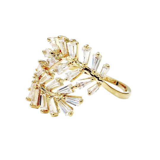 Ocean Fashion Gold Fashion Crystal inclusive ring Image 2