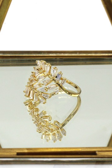 Ocean Fashion Gold Fashion Crystal inclusive ring Image 5