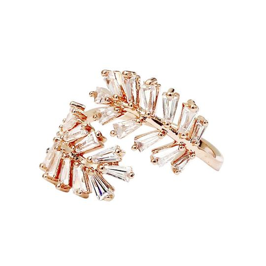 Ocean Fashion Rose gold Fashion Crystal inclusive ring Image 1