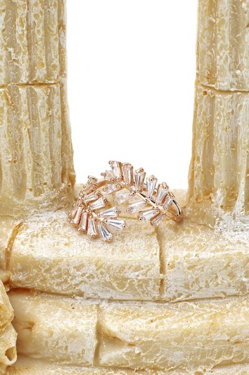 Ocean Fashion Rose gold Fashion Crystal inclusive ring Image 7