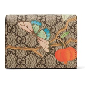 Gucci floral printed coated canvas small wallet