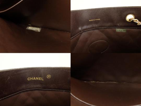 Chanel Sac Plat Shopper Gst Flat Pst Tote in Brown Image 2