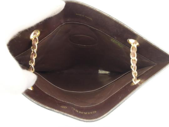 Chanel Sac Plat Shopper Gst Flat Pst Tote in Brown Image 3