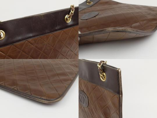 Chanel Sac Plat Shopper Gst Flat Pst Tote in Brown Image 4