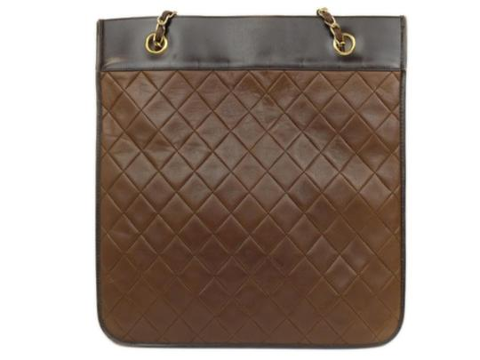 Chanel Sac Plat Shopper Gst Flat Pst Tote in Brown Image 5