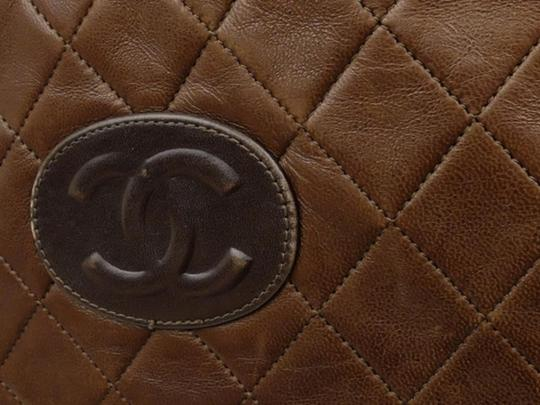 Chanel Sac Plat Shopper Gst Flat Pst Tote in Brown Image 7