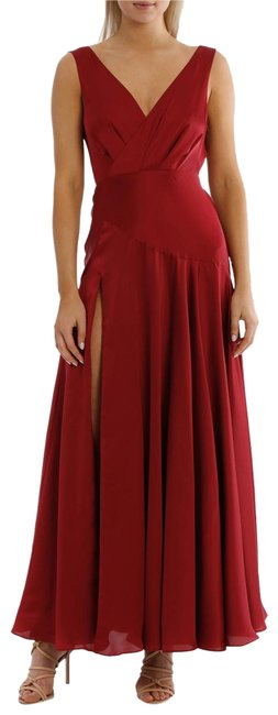 Item - Red & The Escala Long Cocktail Dress Size 10 (M)