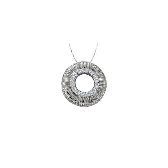Preload https://img-static.tradesy.com/item/23408166/white-cubic-zirconia-circle-fashion-pendant-in-14k-gold-010-ct-tgwjew-necklace-0-0-540-540.jpg