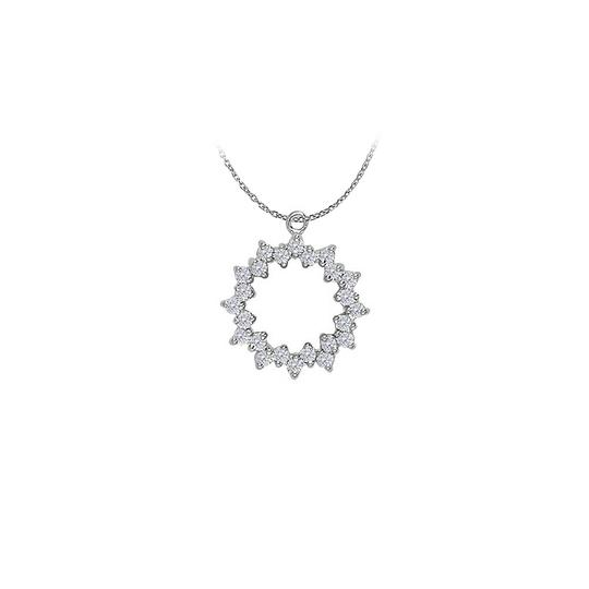 Preload https://img-static.tradesy.com/item/23408177/white-cubic-zirconia-circle-pendant-in-14k-gold-with-a-free-16-inch-ch-necklace-0-0-540-540.jpg