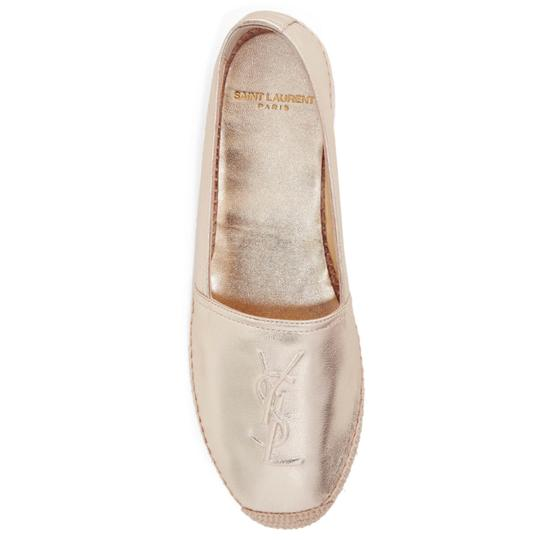 Preload https://img-static.tradesy.com/item/23408178/saint-laurent-logo-embossed-metallic-leather-espadrilles-flats-size-us-6-regular-m-b-0-0-540-540.jpg