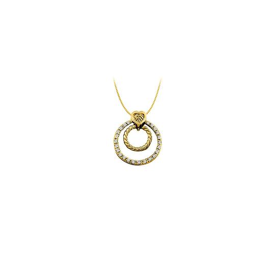Preload https://img-static.tradesy.com/item/23408190/white-yellow-gold-cubic-zirconia-double-circle-pendant-in-14k-033-ct-tgwjew-necklace-0-0-540-540.jpg