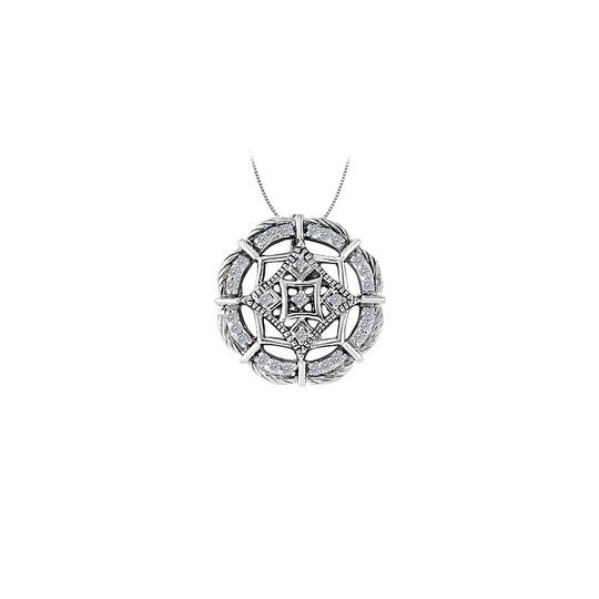 Preload https://img-static.tradesy.com/item/23408203/white-cubic-zirconia-fancy-circle-fashion-pendant-in-14k-gold-025-ct-necklace-0-0-540-540.jpg