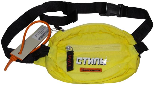 Item - Belt Yellow and Fanny Pack Ripstop Mini Black Polyamide Cross Body Bag