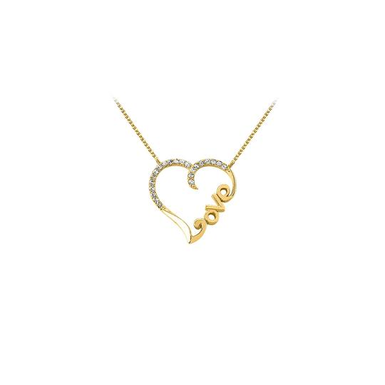 Preload https://img-static.tradesy.com/item/23408240/white-yellow-gold-cubic-zirconia-heart-pendant-in-14k-best-gift-cost-necklace-0-0-540-540.jpg