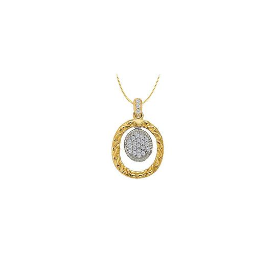 Preload https://img-static.tradesy.com/item/23408399/white-two-tone-gold-cubic-zirconia-oval-fashion-pendant-in-14k-010-ct-tgwpe-necklace-0-0-540-540.jpg