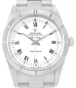 Rolex Rolex Air King 34mm White Dial Steel Mens Watch 14010 Box Papers