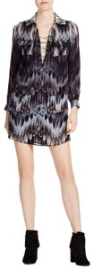 Haute Hippie short dress Multi color Shirt Lace Up on Tradesy