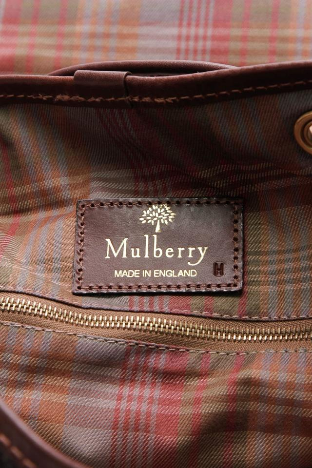 2be9cdf1069d Mulberry Vintage Scotchgrain Black Brown Coated Canvas Leather ...
