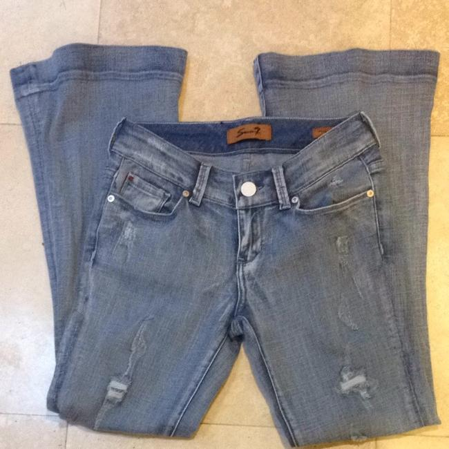 7 For All Mankind Flare Leg Jeans-Distressed
