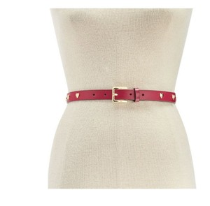 Michael Kors Michael Kors Heart-Studded Leather Skinny Belt L