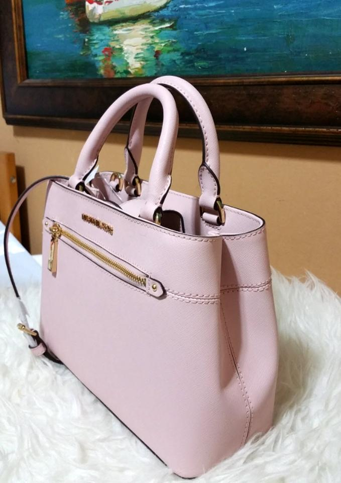 29c5dc4ed927 Michael Kors Hailee Small Leather Blossom Pink Canvas Satchel - Tradesy