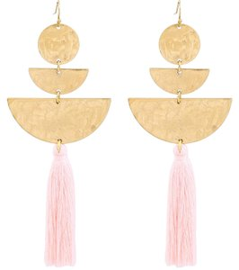 Private Collection Hammered Gold Tassel Earrings