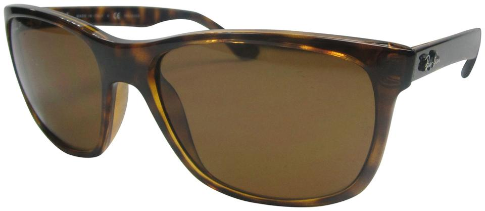 2ff8b37b64 Ray-Ban Tortoise Brown Made In Italy Rb4181 710 83 Polarized  Sta607 ...