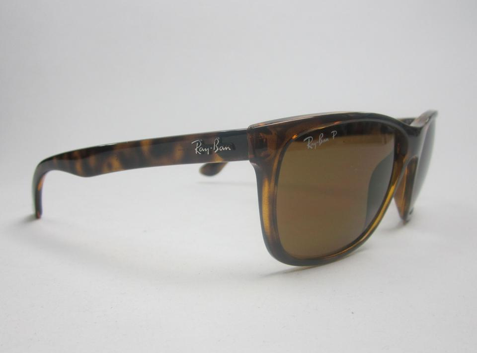 6cee0a33a2 Ray-Ban Tortoise Brown Made In Italy Rb4181 710 83 Polarized  Sta607  Sunglasses - Tradesy