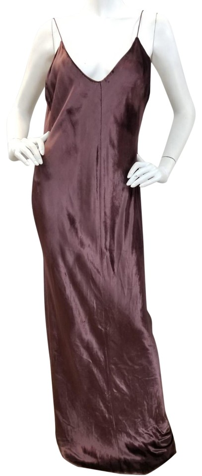 18e51ed3461e T by Alexander Wang Aubergine Panne Velvet Long Formal Dress Size 12 ...