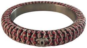 Chanel Chanel Pink and Black Tweed Bangle