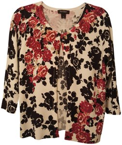 White House | Black Market Sparkle Embellished Floral Cardigan