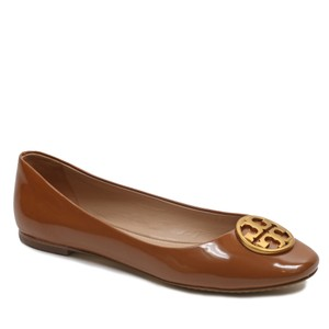 Tory Burch Tb Logo Ballet Leather Umber Flats