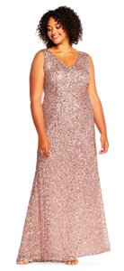 Adrianna Papell Sequin Beaded Embellished Dress