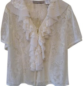 Double D Ranchwear Lace Top cream
