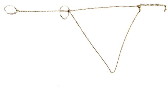Vintage Gold And Distressed Silver Adjustable Loop Necklace