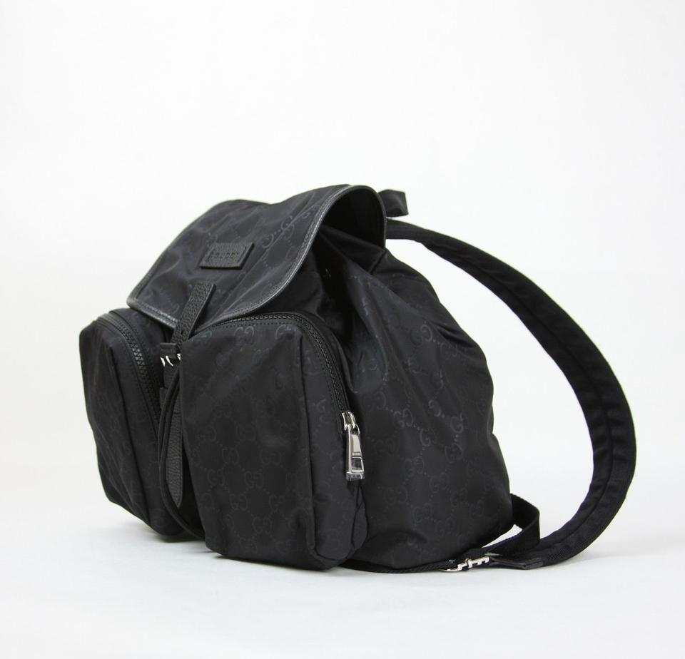 47466148d714 Gucci Medium with Two Front Pockets 510343 Black Nylon Backpack - Tradesy