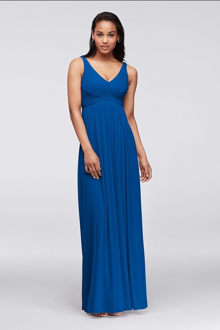 Item - Horizon (Deep Royal Blue) Mesh F15933 Modern Bridesmaid/Mob Dress Size 8 (M)