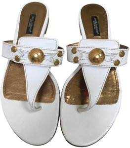 Dolce&Gabbana white and gold Sandals