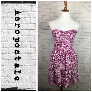 Aéropostale short dress Purple/White on Tradesy
