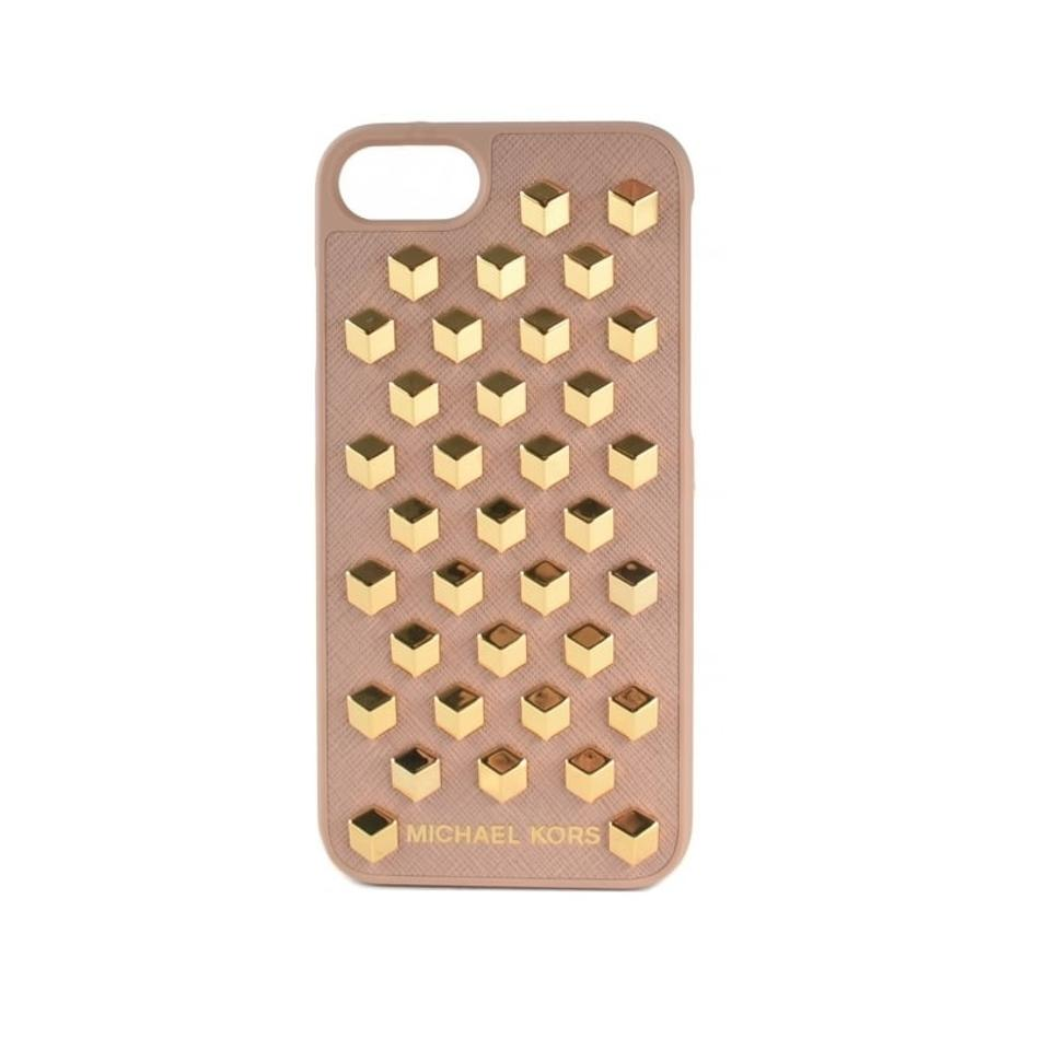 reputable site d92f3 fb494 Michael Kors Fawn/Gold Studded Iphone 7 Case Tech Accessory