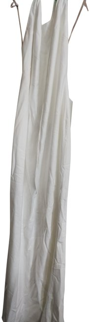 Item - Ivory Halter Long Night Out Dress Size 6 (S)