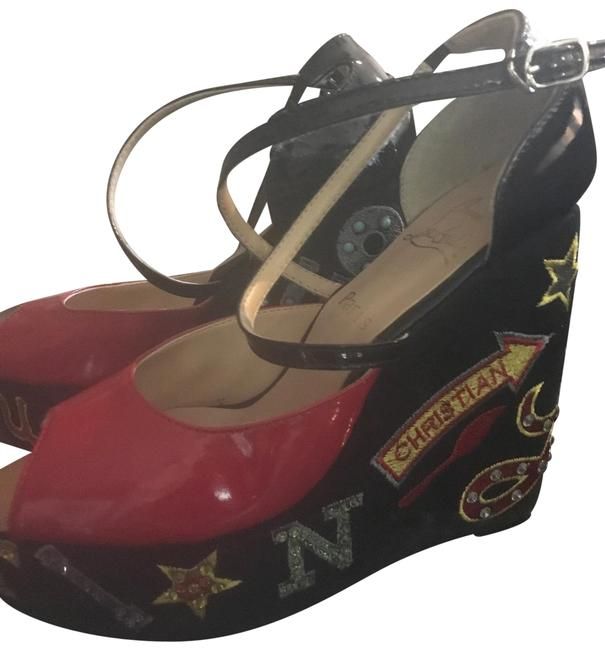 Item - Red and Deco Wedge Platforms Size EU 41 (Approx. US 11) Regular (M, B)