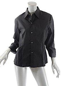Craig Taylor Cotton Stretch Button Down Shirt Black