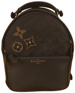 108eec8723f6 Louis Vuitton M43741 Navy Lv Print Leather Backpack - Tradesy