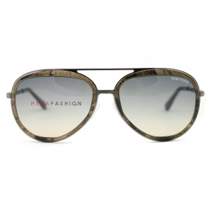 Tom Ford Tom Ford Andy TF468 50B FT468 50B Transparent Brown Sunglasses New!