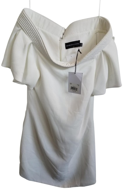 Item - Ivory Off Shoulder Mid-length Night Out Dress Size 4 (S)