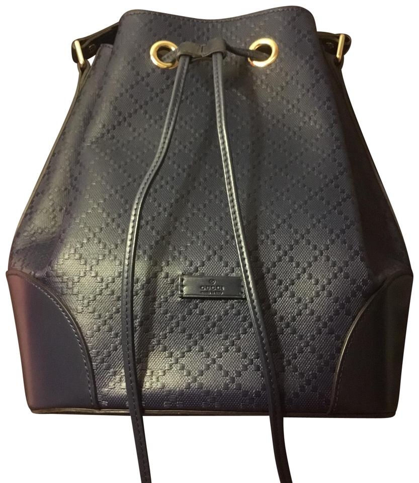 ae27dad0ce Gucci Shopping Tote Navy Leather Hobo Bag - Tradesy