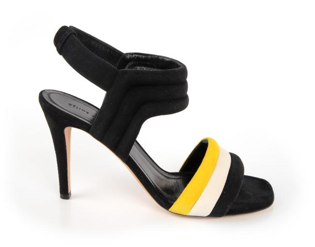 Item - Black Yellow and White Padded Suede Pumps Size US 9.5 Regular (M, B)
