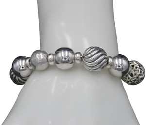 David Yurman David Yurman Sterling Silver Waverly Elements Bead Adjustable Bracelet